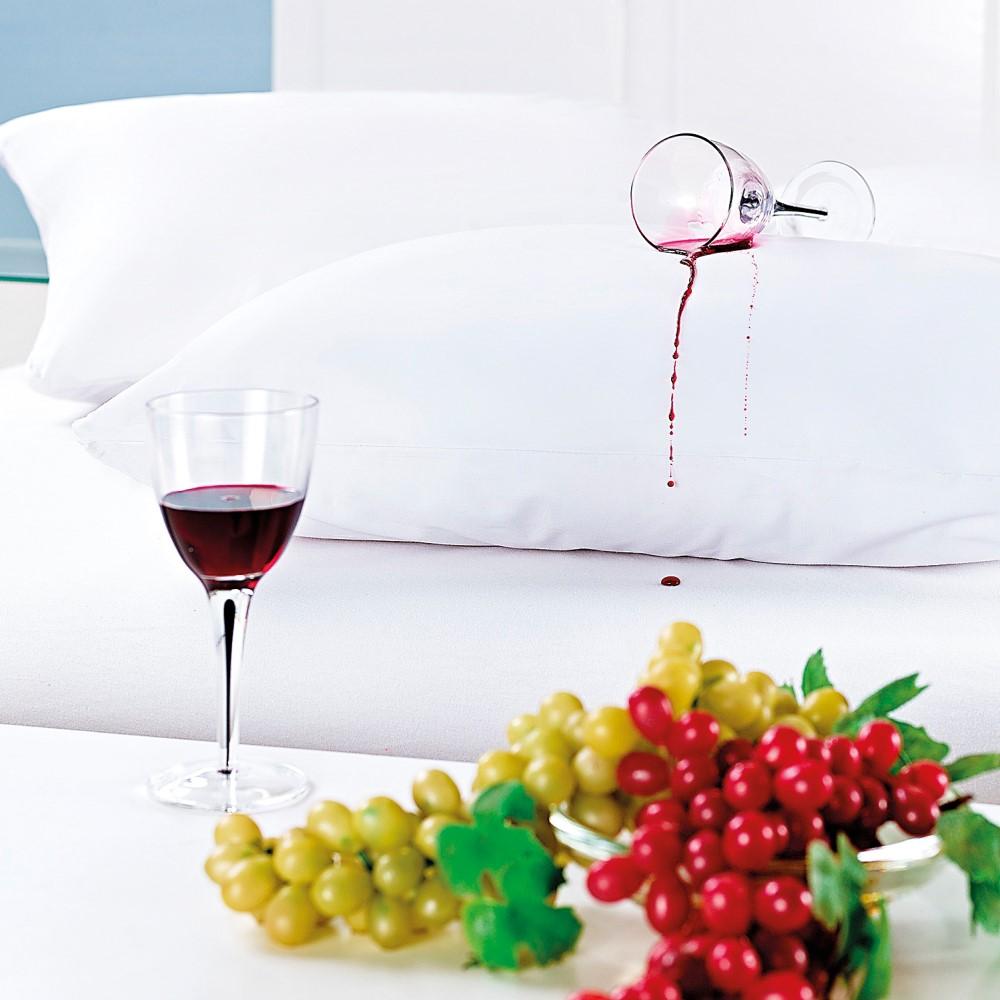 Capa Protetora de Travesseiro Impermeável 200 Fios - Branco