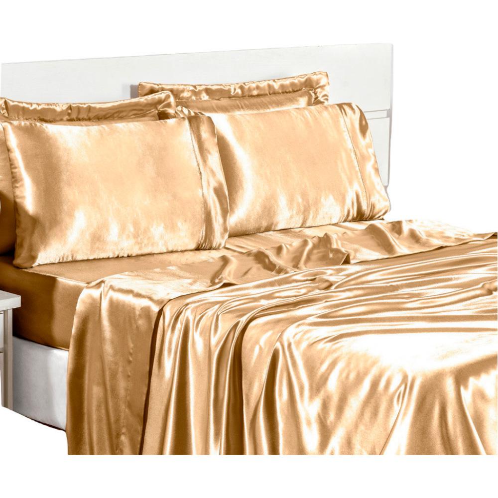 Jogo de Lençol Sublime Queen 4 Peças - Dourado