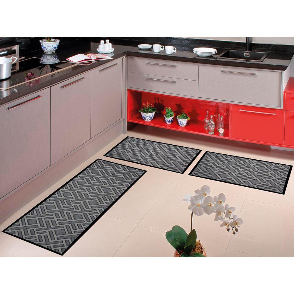 Kit Cozinha Home Tech 3 pçs - Perfil Baixo - Espessura 1cm - HT 01 Preto