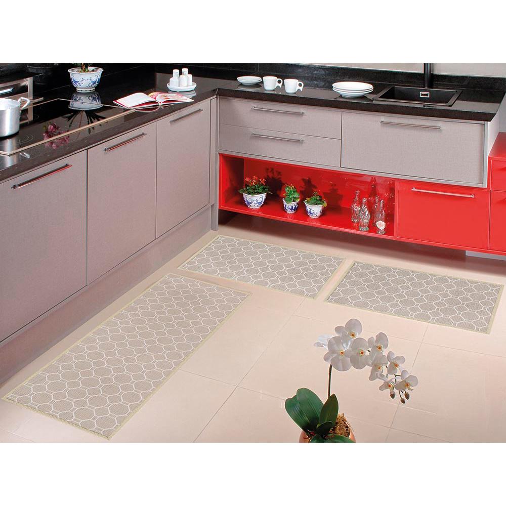 Kit Cozinha Home Tech 3 pçs - Perfil Baixo - Espessura 1cm - HT 05 Champanhe