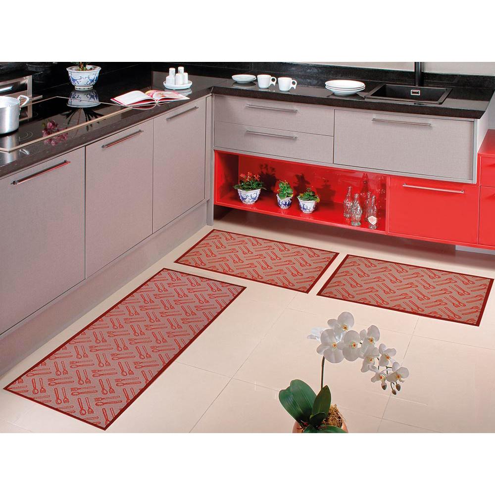 Kit Cozinha Home Tech 3 pçs - Perfil Baixo - Espessura 1cm - HT 10 Rubi