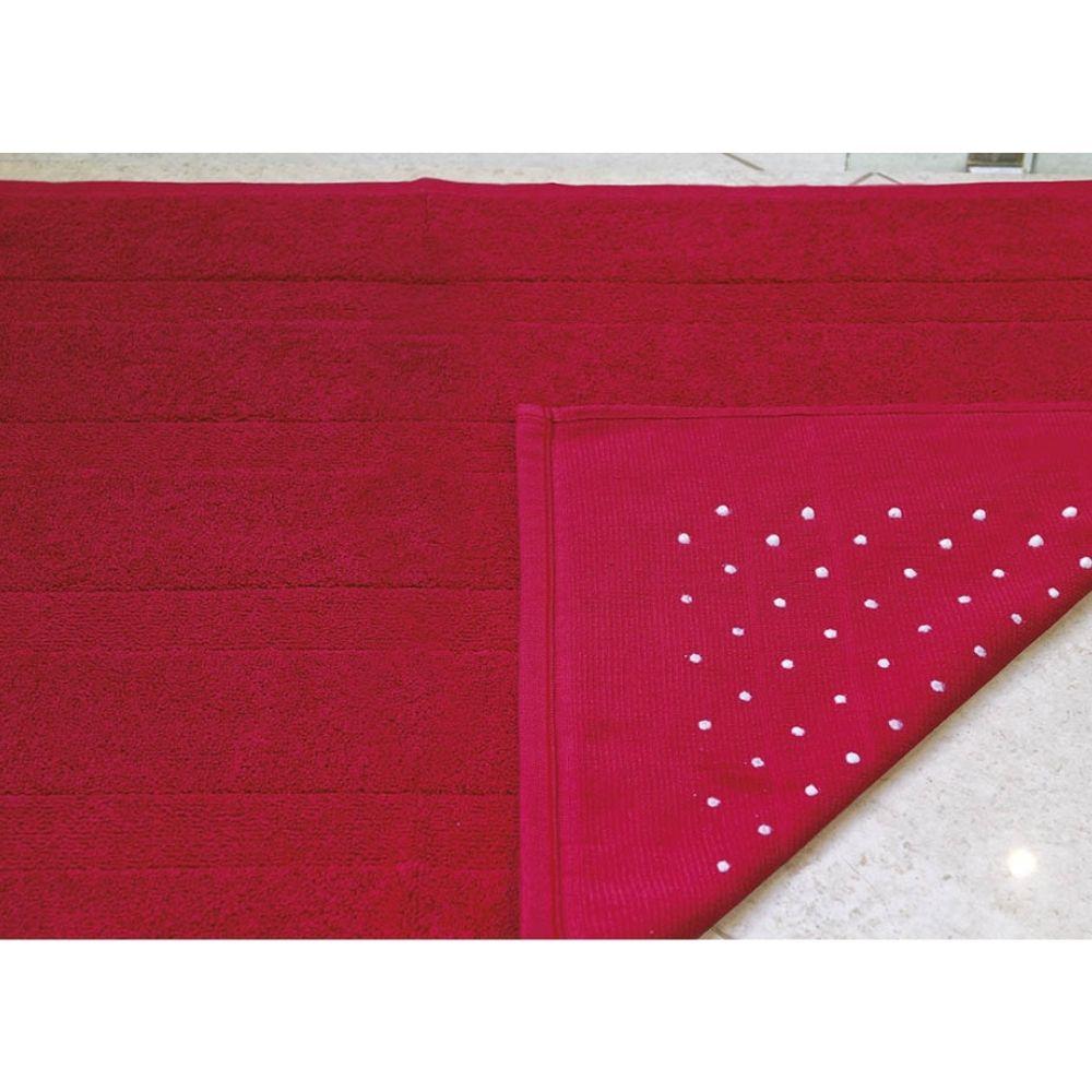 Piso Banheiro Roma 45cm x 75cm - Perfil Baixo - Espessura 1cm - Vermelho