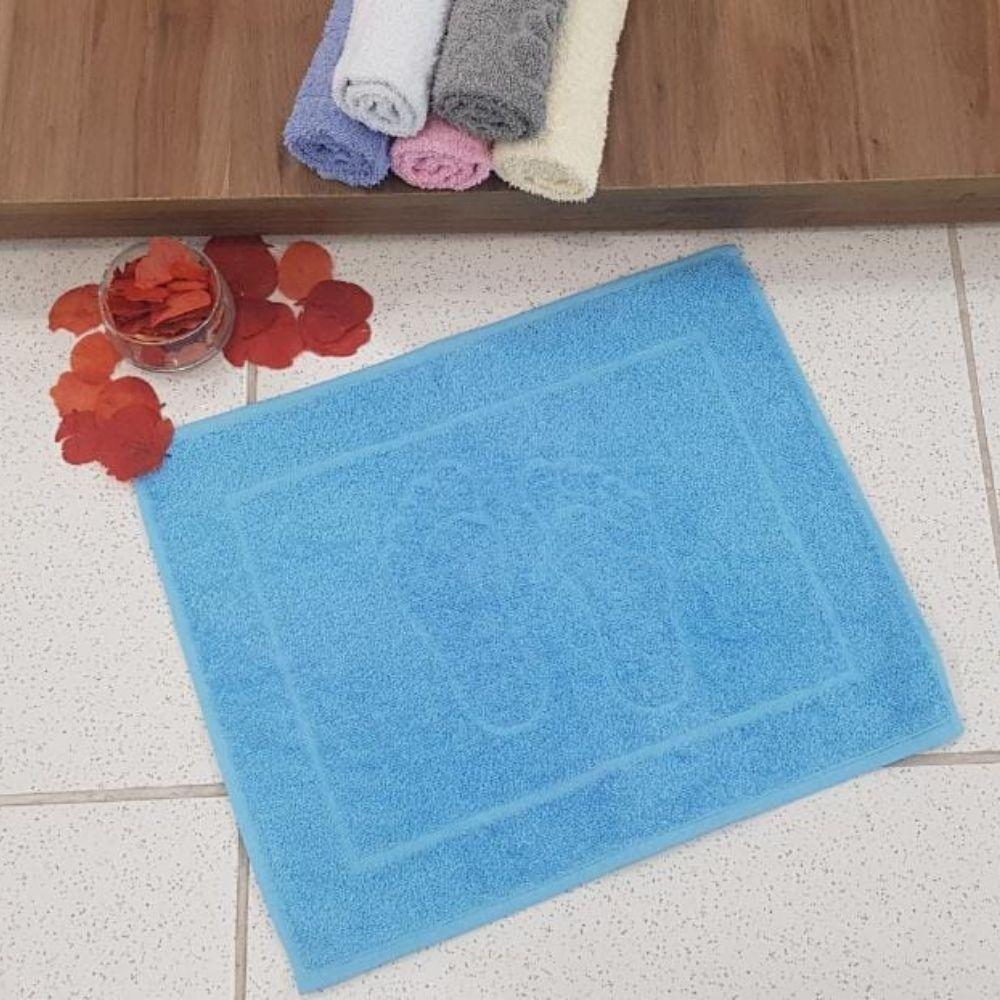 Piso de Banheiro Pezinho 1 Peça - Azul