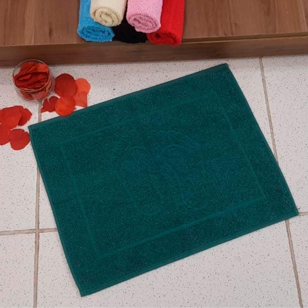 Piso de Banheiro Pezinho 1 Peça - Verde escuro