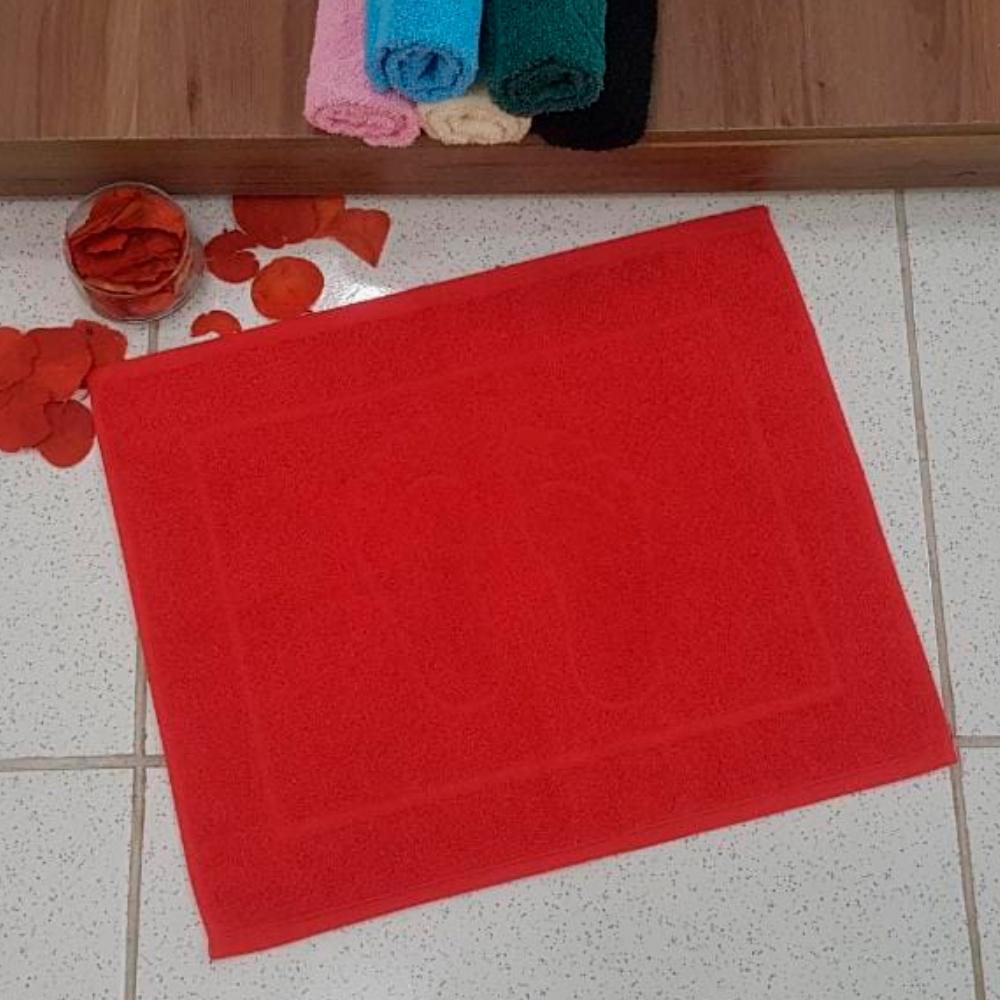Piso de Banheiro Pezinho 1 Peça - Vermelho