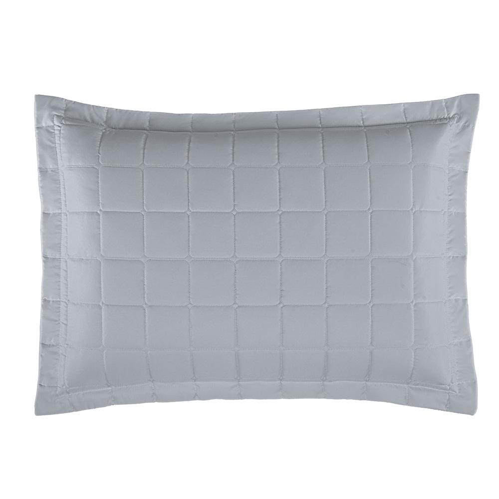Porta Travesseiro Soft 1 Peça - Cinza