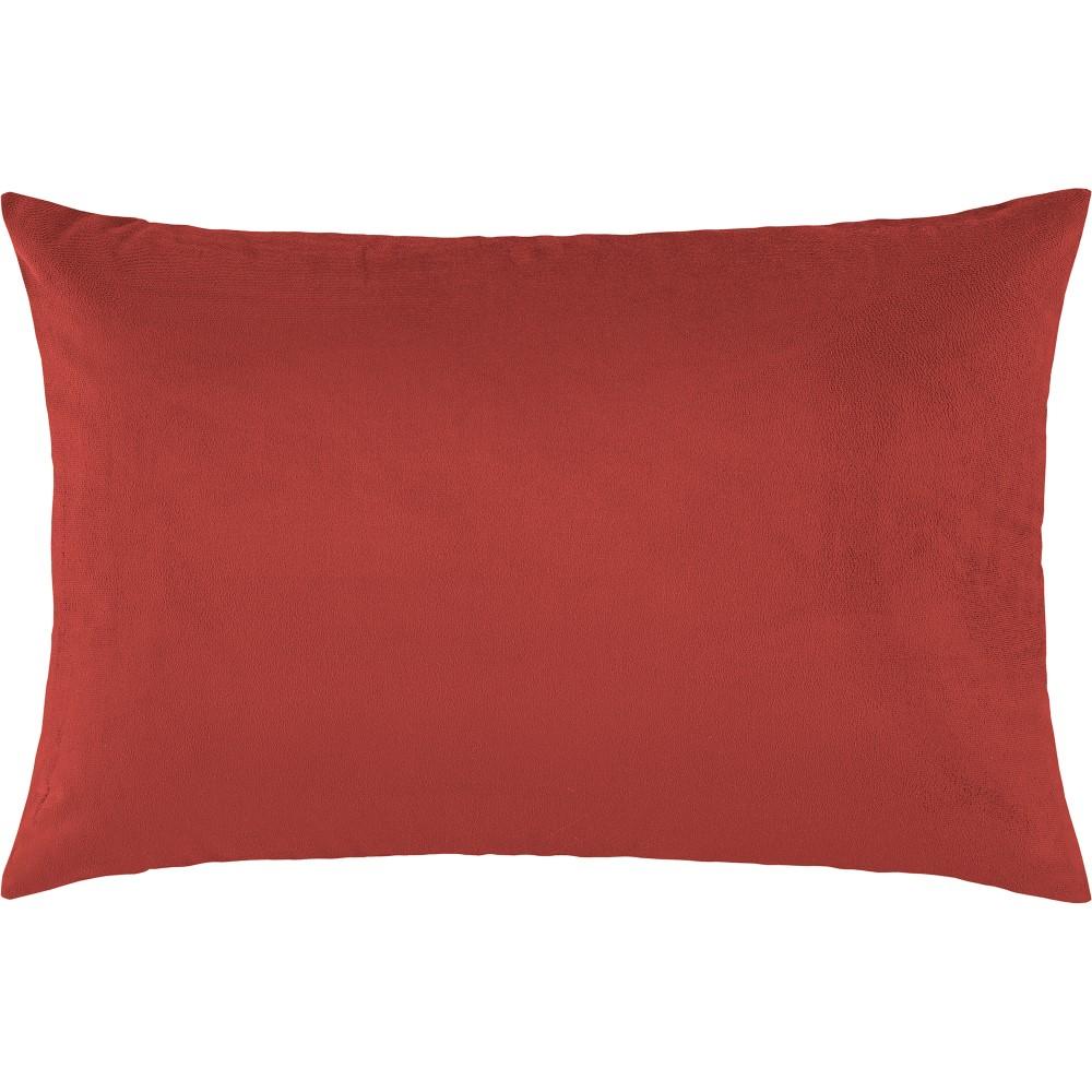 Porta Travesseiro Suede 1 Peça - Vermelho