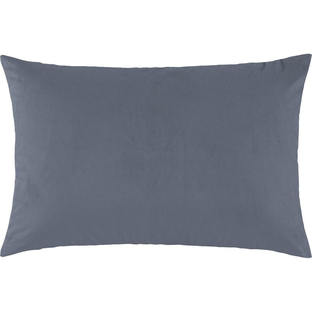 Porta Travesseiro Suede 1 Peça - Azul
