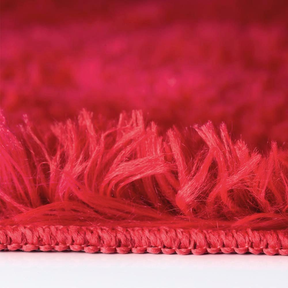 Tapete Bella 1,00m x 1,40m - Perfil Médio - Espessura 3,6cm - Vermelho