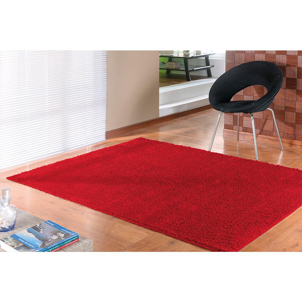 Tapete Classic 1,00m x 1,50m - Perfil Baixo - Espessura 1,7cm - Vermelho