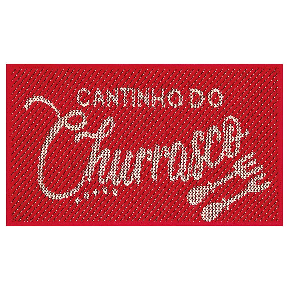 Tapete Sisal Churrasco 40cm x 65cm - Perfil Baixo - Espessura 1cm - S 516 Vermelho