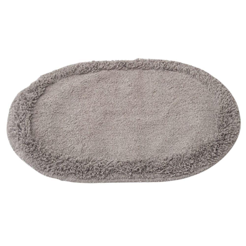 Tapete Soft Oval 70cm x 52cm - Perfil Baixo - Espessura 1cm - Bege