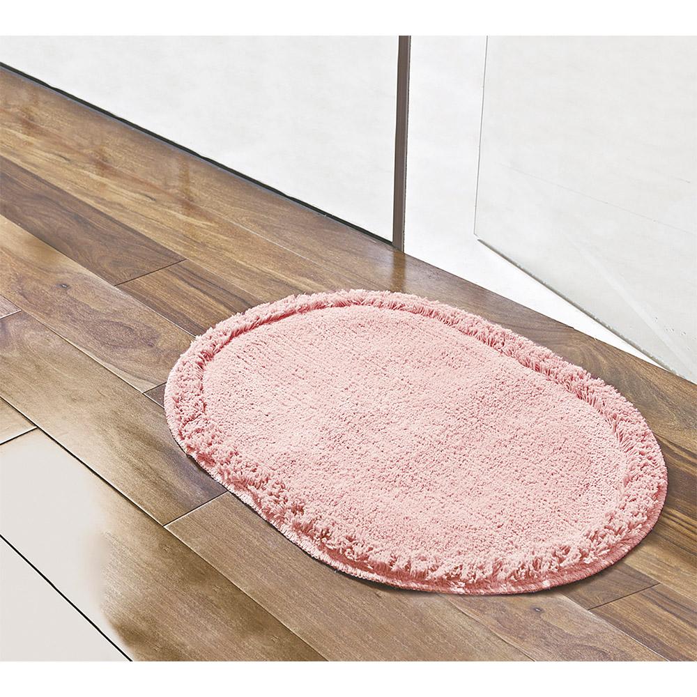 Tapete Soft Oval 70cm x 52cm - Perfil Baixo - Espessura 1cm - Salmão