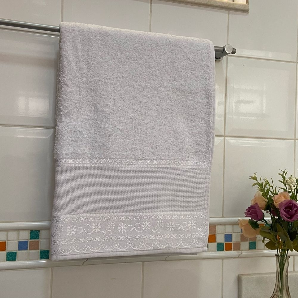 Toalha de Banho Belle Avulsa 1 Peça - Branco