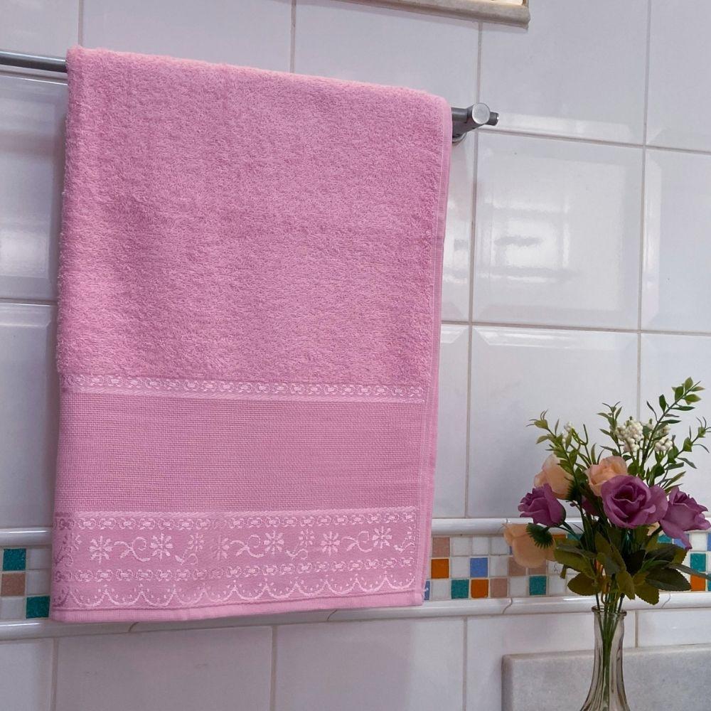 Toalha de Banho Belle Avulsa 1 Peça - Rosa