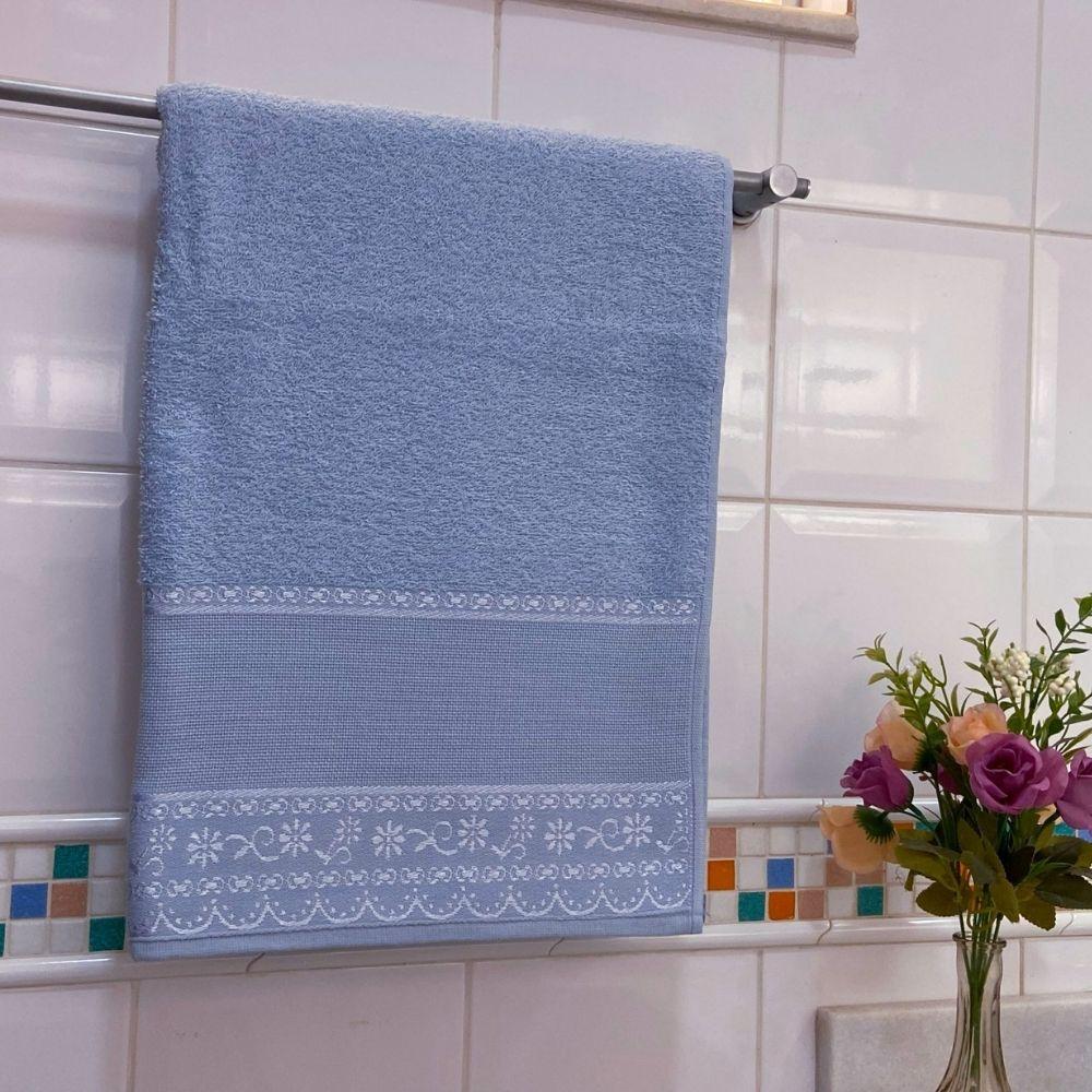 Toalha de Rosto Belle Avulsa 1 Peça - Azul