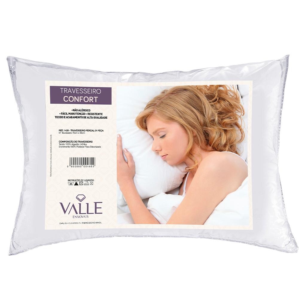 Travesseiro Confort Percal 1 Peça - Branco