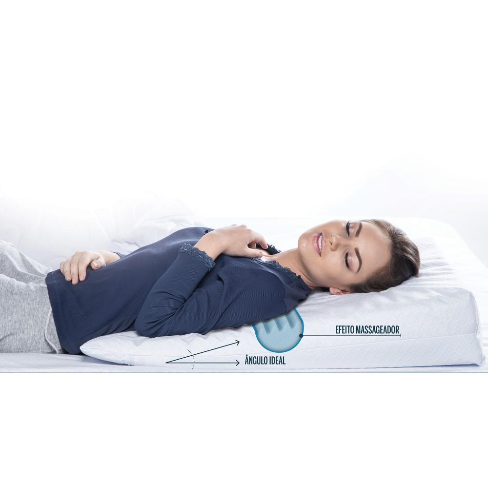Travesseiro Rampa Terapêutica com Capa - Branco