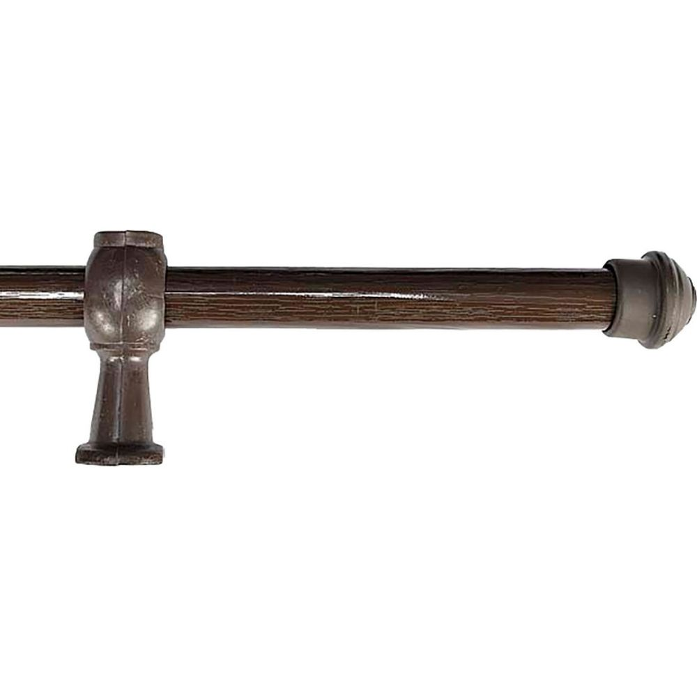Varão Simples 19mm 2 Metros - Imbuia