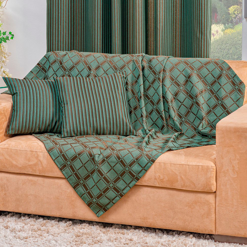 Xale Elegance para Sofá 5 Peças - Verde
