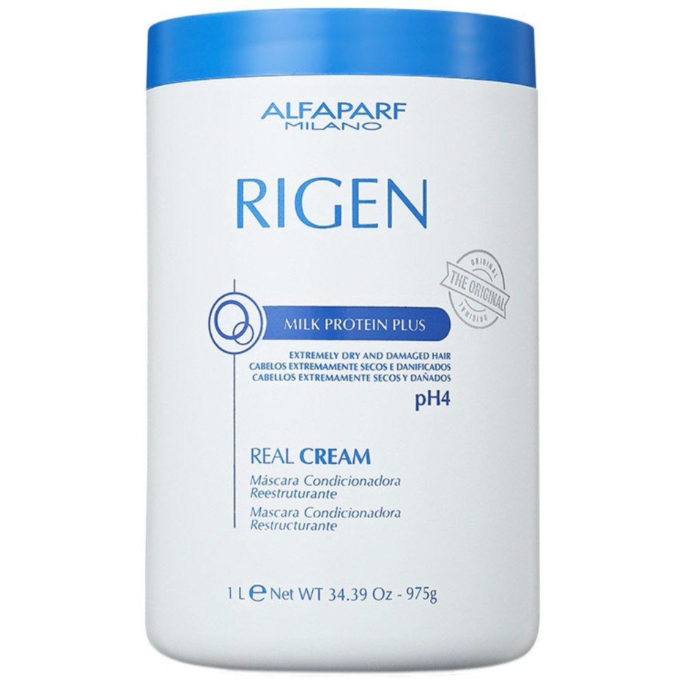 Máscara de Tratamento Alfaparf Rigen Milk Protein Plus Real Cream pH4 ? 1Kg