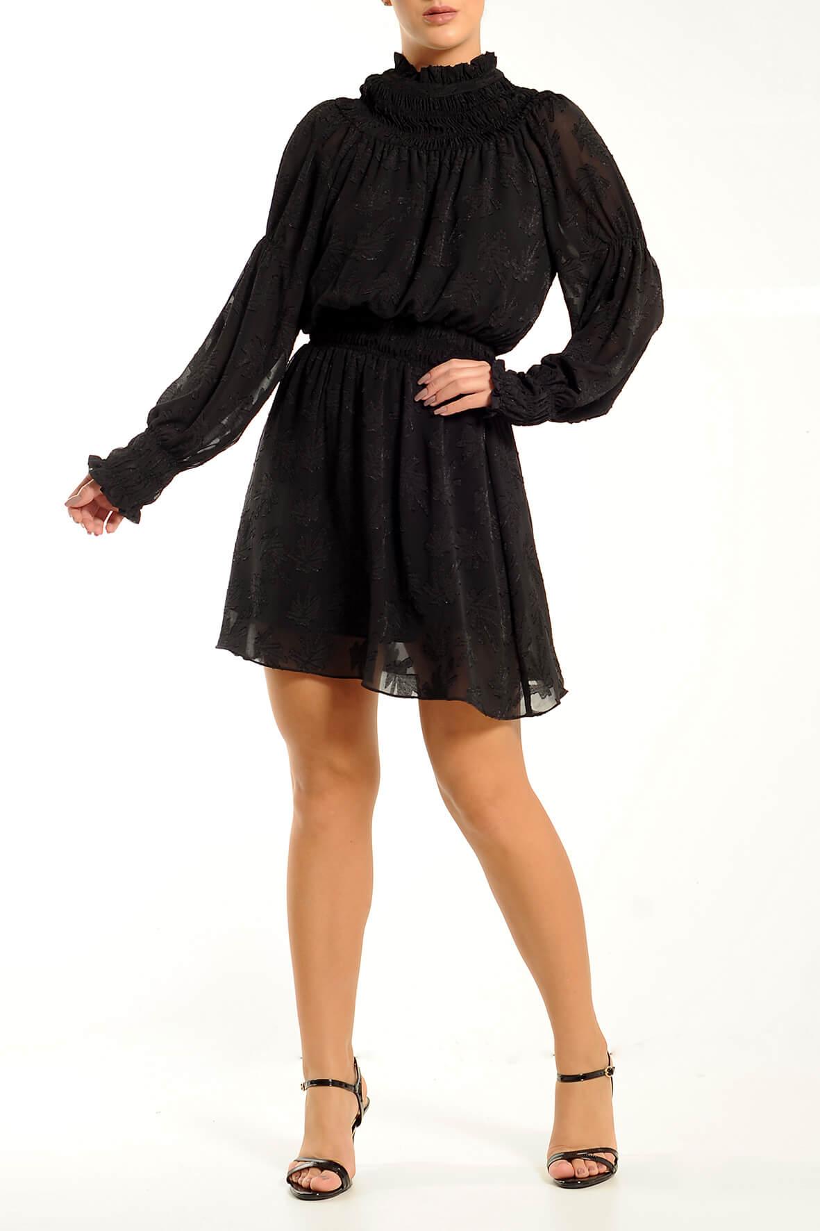 Vestido Decote Lastex Jacquard