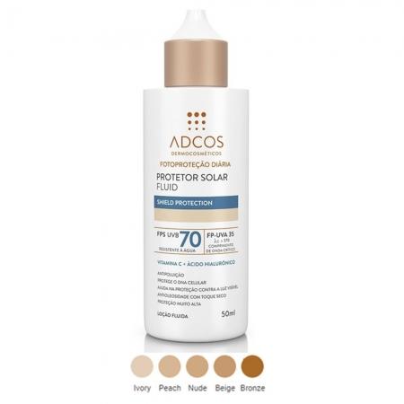 Adcos Filtro Solar Fluid Fps 70 Ivory 50ml