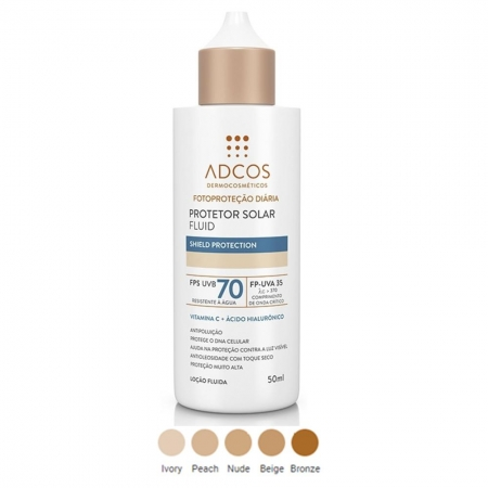 Adcos Filtro Solar Fluid Fps 70 Peach 50ml