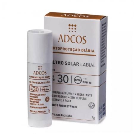 Adcos Filtro Solar Protetor Labial FPS30 5g