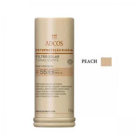 Adcos Pro. Filtro Solar Tonalizante FPS 55 Base Stick 12g Peach