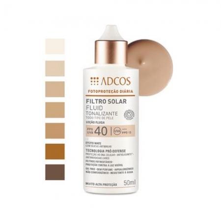 Adcos Professional Filtro Solar Tonalizante FPS 40 Fluid Peach 50ml