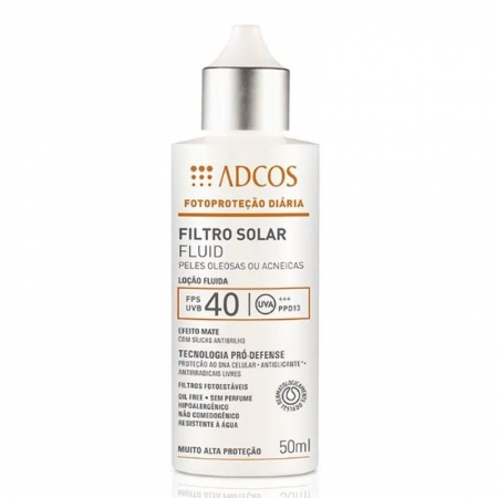 Adcos Profissional Filtro Solar Fluid FPS 40 Peles Oleosas 50ml