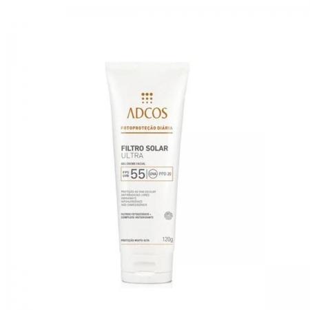Adcos Profissional Filtro Solar Ultra FPS 55 Gel Creme 120gr