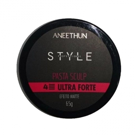 Aneethun Pasta Sculp Style Profissional Ultra Forte 65g Efeito Matte