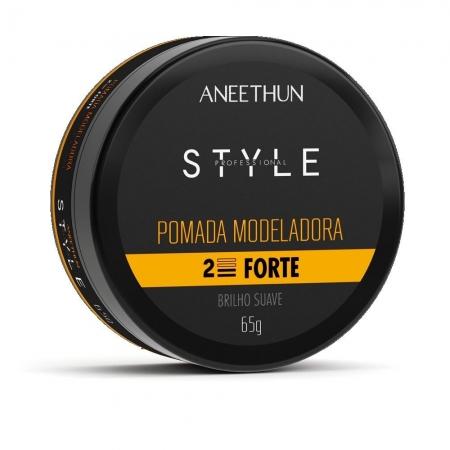 Aneethun Pomada Modeladora Style Brilho Suave 65g Fixação Forte