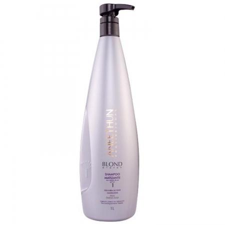 Aneethun Shampoo Matizante Blond System 1 Litro Cabelos Loiros