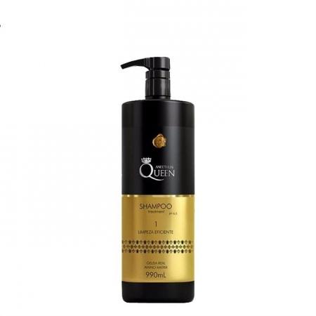 Aneethun Shampoo Queen  Treatment Limpeza Eficiente 990ml Geleia Real