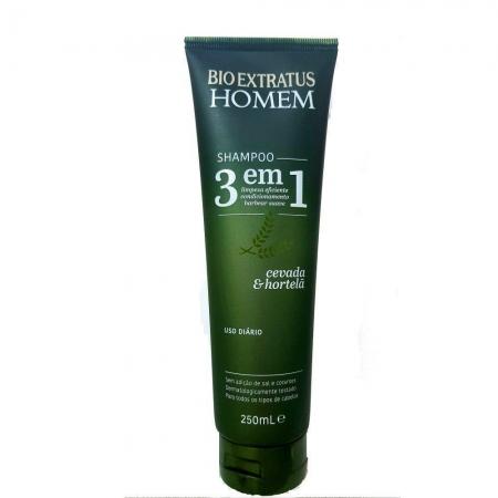 Bio Extratus Linha Masculina Shampoo 3 em 1 250ml