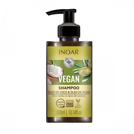Inoar Vegan Shampoo Óleo de Coco 300ml