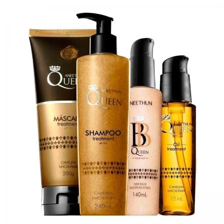 kit Aneethun Queen Sh. + Masc. +  Oil Treatment e Hair Balm