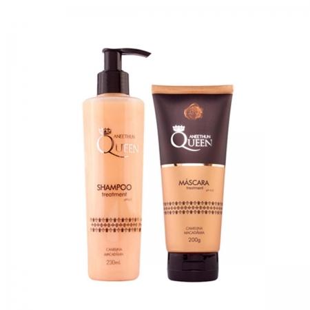 Kit Aneethun Queen Shampoo230ml e Máscara Queen200gr Cabelo Seco
