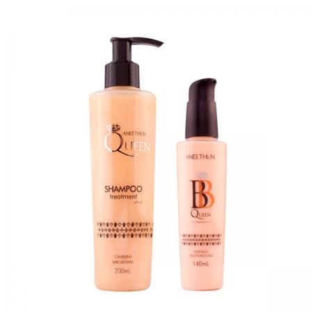 Kit  Aneethun Queen Shampoo230ml e Queen Balm140ml  Cabelos Secos