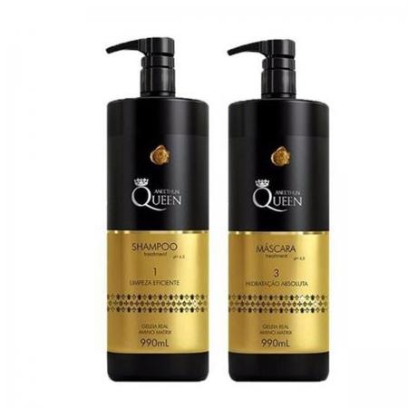 Kit Aneethun Queen  Shampoo e Máscara 990ml