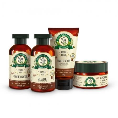 Kit Bio Extratus Botica Henna Completo (Sh. Cond. Másc. Fin.)