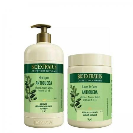 Kit Bio Extratus Jaborandi Shampoo 1L e Máscara 1kg