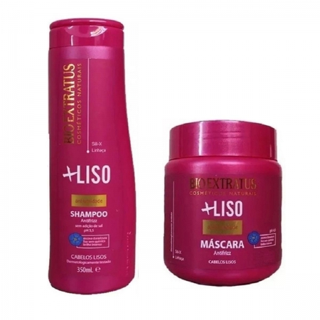 Kit Bio Extratus Liso Shampoo 350ml + Máscara 250gr