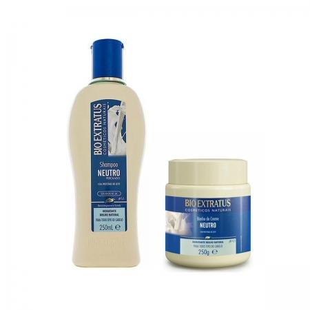 Kit Bio Extratus Neutro Shampoo 250ml e Banho de Creme 250g