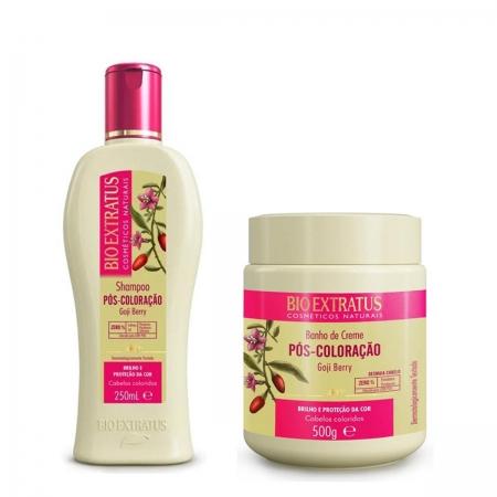 Kit Bio Extratus Pós Coloração Shampoo 250ml e Banho de Creme 500gr