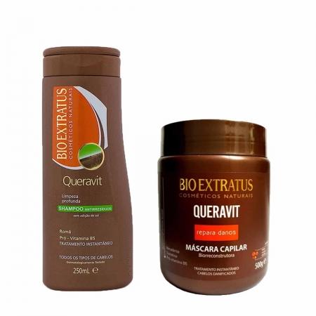Kit Bio Extratus Queravit  Shampoo Antiresiduo 250ml e Máscara 500gr