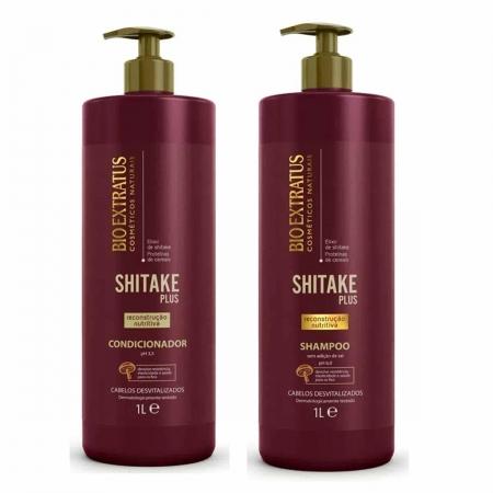 Kit Bio Extratus Shitake Shampoo 1L e Condicionador 1L